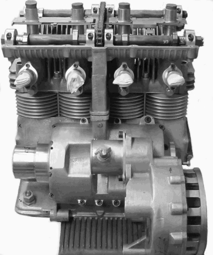 Motor von hinten